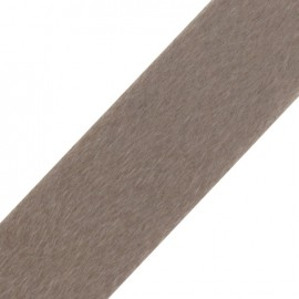 Short-haired Fur Ribbon 50mm - Beige