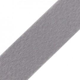 Ruban fourrure poil ras 50mm gris clair×1M