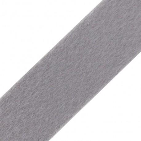 Short-haired Fur Ribbon 50mm - Light Grey