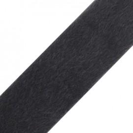 Fourrure poil ras gris 50mm