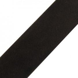 Ruban fourrure poil ras 50mm brun × 1 M