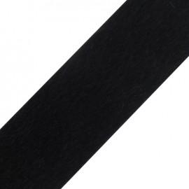 Ruban fourrure poil ras 50mm noir ×1m