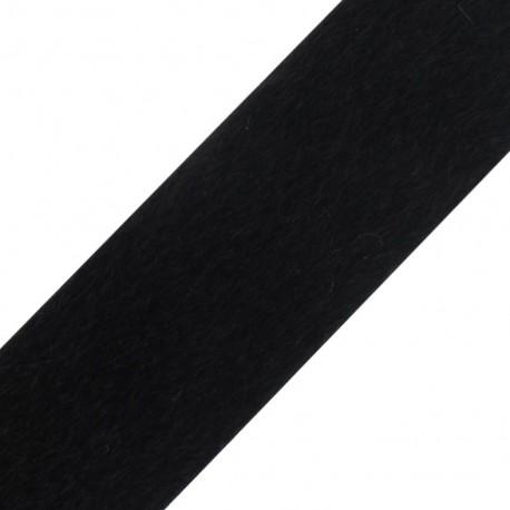Fourrure poil ras noir 50mm