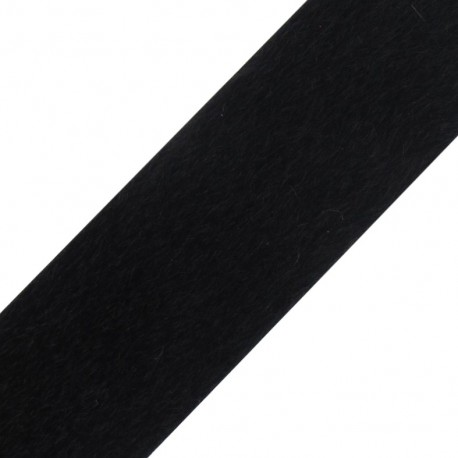 Short-haired Fur Ribbon 50mm - Black