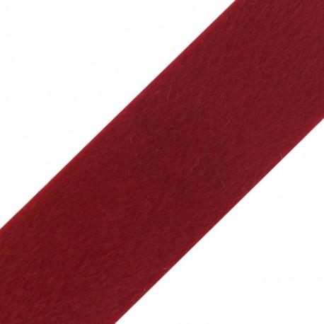 Fourrure poil ras 50mm rouge