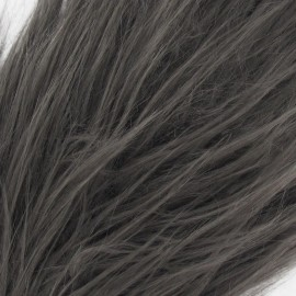 Long-haired Fur Ribbon 100mm x 50cm - Grey