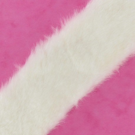 Fur Ribbon 50mm x 50cm, plain - ecru