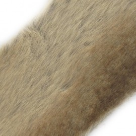 Amber Fur Ribbon 100mm x 50cm - Beige