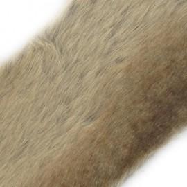 Ruban fourrure ambrée 100mm beige x 50cm