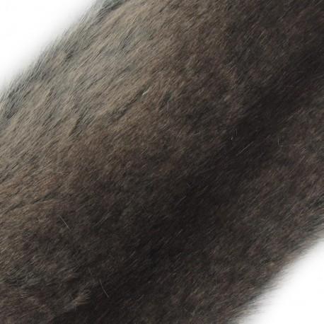 Ruban fourrure ambrée 100mm chocolat x 50cm