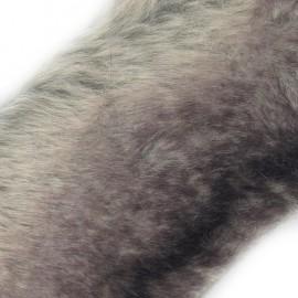 Ruban fourrure ambrée 100mm gris purple x 50cm