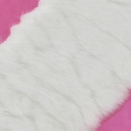 Ruban fourrure poils mixtes 100mm blanc x 50cm