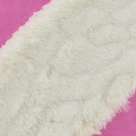 Mixed-haired Fur Ribbon 100mm x 50cm - ecru
