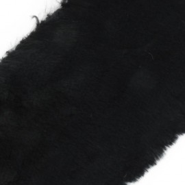 Mixed-haired Fur Ribbon 100mm x 50cm - black