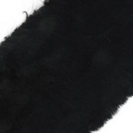 Ruban fourrure poils mixtes 100mm noir x 50cm