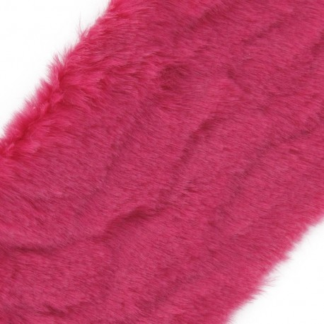 Mixed-haired Fur Ribbon 100mm x 50cm - fuchsia
