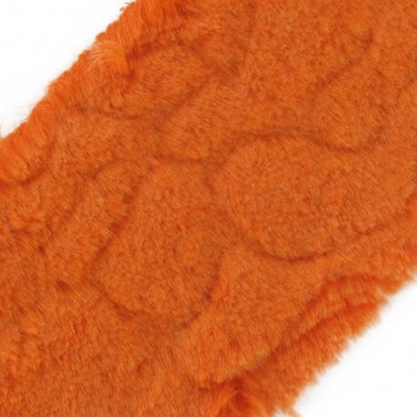 Mixed-haired Fur Ribbon 100mm x 50cm - Orange