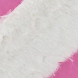 Ruban fourrure classique 100mm blanc x 50cm
