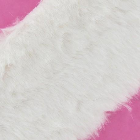 Classic Fur Ribbon 100mm - White x 50cm
