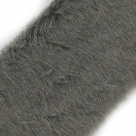Classic Fur Ribbon 100mm x 50cm - grey