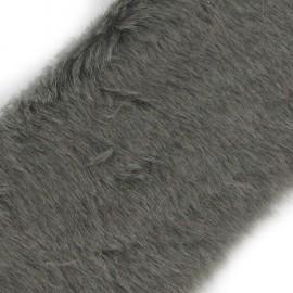 Ruban fourrure classique 100mm gris x 50cm