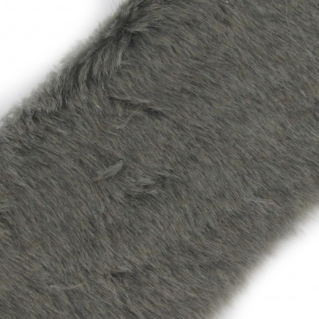 Classic Fur Ribbon 100mm x 50cm - grey