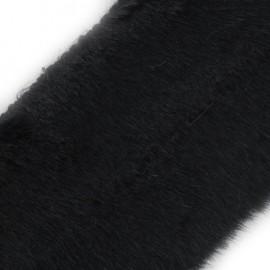 Ruban fourrure classique 100mm noir x 50cm
