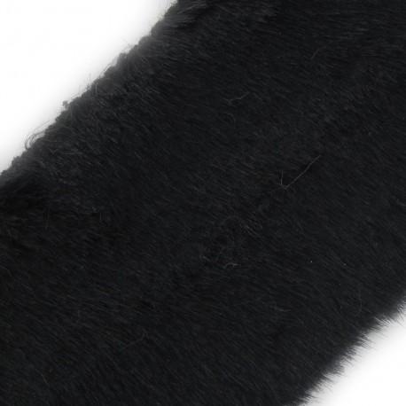 Classic Fur Ribbon 100mm x 50cm - Black
