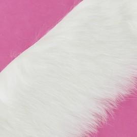 Ruban fourrure lapin 50mm blanc x 50cm