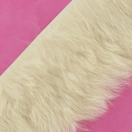 Ruban fourrure lapin 50mm écru x 50cm