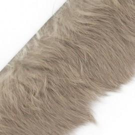 Ruban fourrure lapin 50mm beige x 50cm