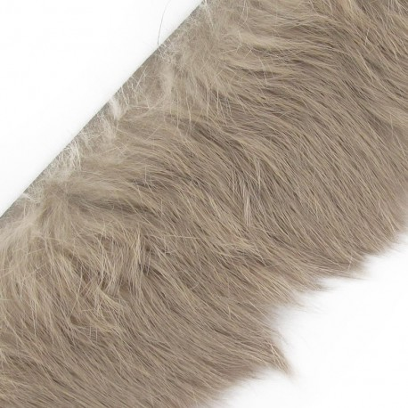 Natural Fur ribbon, 50mm x 50cm - beige
