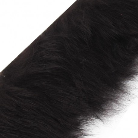 Natural Fur ribbon, 50mm x 50cm - Light Brown