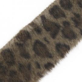 Ruban fourrure léopard 50mm beige x 50cm