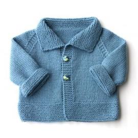 "Fiche Kids Tricot Veste ""Baby Kimo"" de 3 à 18 mois"