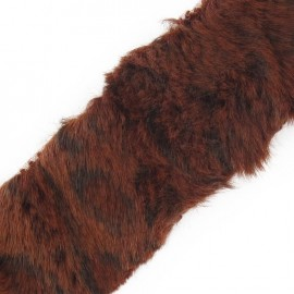 Ruban fourrure léopard 50mm auburn x 50cm