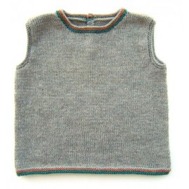 """Tank top mele"" in sizes 2/4/6 and 8 years old - grey"