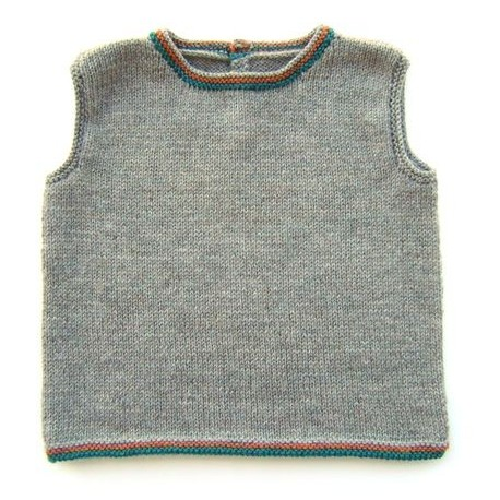 Tank top mele in sizes 2/4/6 and 8 years old - grey