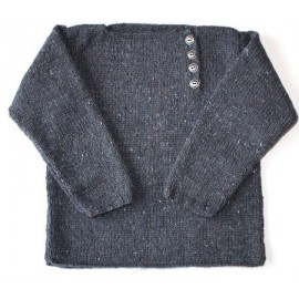 "Sweater ""Meka"" in sizes 2/4/6 and 8 years old, from Kids Tricots - dark grey"