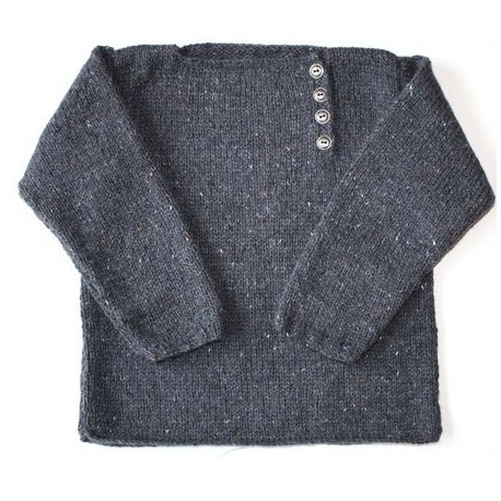 """Sweater """"Meka"""" in sizes 2/4/6 and 8 years old, from Kids Tricots - dark grey"""