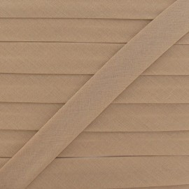 Multi-purpose-fabric Bias binding 20mm - light chestnut