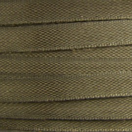 Ruban de soie chocolat 4 mm