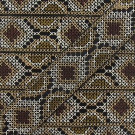 Jacquard ribbon, Inca 35 mm x 20 cm - light beige/ecru