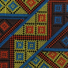 Jacquard ribbon, Inca 62 mm x 20 cm - azure