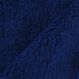 Fourrure mouton bleu roy x 10cm
