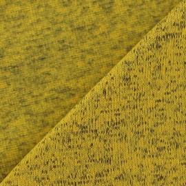 Tricot Jersey chiné molletonné jaune x 10cm
