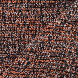 Tissu Tweed camaieu fil d'argent orange x 10cm