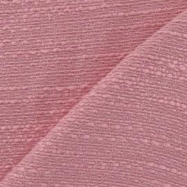 Tissu Tweed fil d'or rose x 10cm