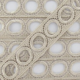Curtain rod guipure lace 30mm beige