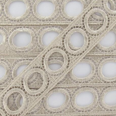 Curtain rod guipure lace 30mm beige